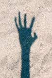 Läskig handskugga Arkivfoto