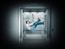 Läskig hiss Arkivfoton