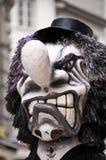 läskig karnevalmaskering arkivbild