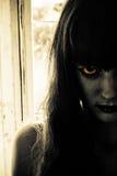 läskig kvinna för fasa Royaltyfri Foto