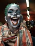 Läskig kvinnlig jokerskyltdocka Arkivbilder