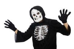 Läskig man i halloween Arkivbilder