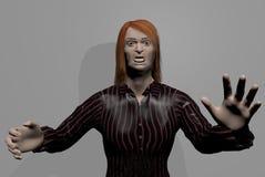 Läskig man med löst rött håranseende vektor illustrationer