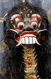 läskig maskering som målas Royaltyfri Foto