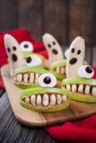 Läskig mat för spöklika halloween ätliga monster Fotografering för Bildbyråer