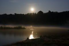 läskig moon Royaltyfri Fotografi