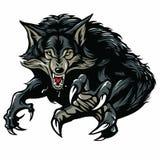 läskig morra werewolf royaltyfri illustrationer