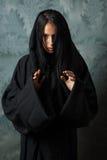 Läskig nunna i en udde Royaltyfria Foton