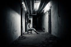 läskig platskvinna för fasa Royaltyfria Foton
