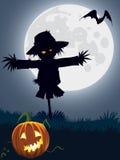 läskig scarecrow vektor illustrationer