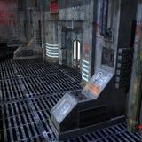 läskig scifiinställning för mörkt ställe Arkivbilder