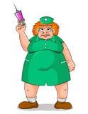 läskig sjuksköterska royaltyfri illustrationer