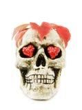 läskig skalle för halloween förälskelse Fotografering för Bildbyråer