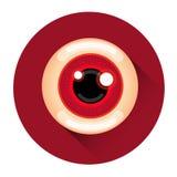 Läskig symbol för ferie för levande dödögonallhelgonaafton stock illustrationer
