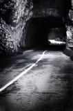 läskig tunnel Fotografering för Bildbyråer
