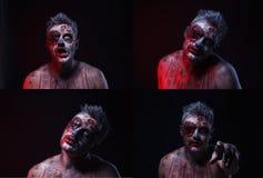 läskig zombie Royaltyfria Bilder