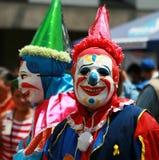 läskiga clowner Arkivfoton