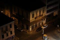 Läskiga och mörka stadsgator Royaltyfria Bilder
