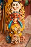 Läskiga tibetana maskeringar Arkivfoton