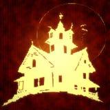 läskigt hus Arkivfoton