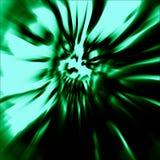 Läskigt huvud av levande dödkvinnan Arkivfoto
