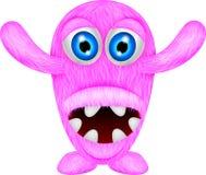Läskigt rosa monster Arkivbilder