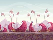 Läskigt sömlöst landskap för fantasi royaltyfri illustrationer
