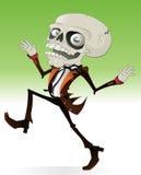 läskigt skelett för tecken Royaltyfri Foto