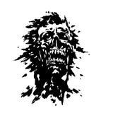 Läskigt skrikigt vampyrhuvud också vektor för coreldrawillustration Arkivbild