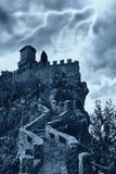 läskigt slott Arkivbilder