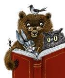 Läsning är inte skadlig. INTE läs- är Royaltyfri Bild
