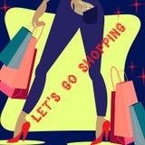 Lässt das Einkaufen anstreben Stockfotos
