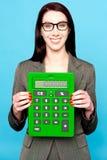 Lässt Einkommen für Geschäftsjahr 2011-12 berechnen stockbilder