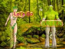 Lässt gehen Grün stock abbildung