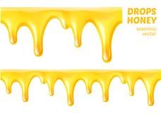 Lässt Honig fallen Nahtloser Vektor Lizenzfreie Abbildung