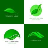 Lässt Logoschablonen Abstrakte Vektorikonen von Blättern lizenzfreie abbildung