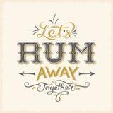 Lässt Rum-weg zusammen abstrakten Weinlese-Vektor stock abbildung