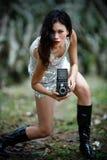 Lässt Verschluss ein Foto Stockfoto