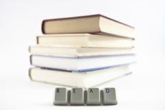 Lästa böcker Arkivbild