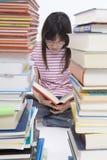 lästa böcker Arkivfoto