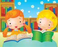 lästa bokbarn Royaltyfri Foto