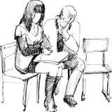 lästa stolar Stock Illustrationer