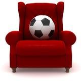 lätt fotboll för bollstol stock illustrationer