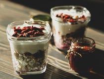 Lätt frukost för en helhy livsstil arkivbild