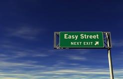 lätt gata för utgångsmotorvägtecken Arkivbilder