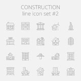 lätt konstruktion redigerar symbolsbildseten till vektorn stock illustrationer