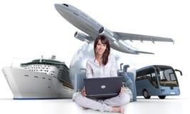Lätt online-ferieplanläggning Royaltyfri Fotografi