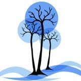 lätt redigera bilden till treesvektorvintern Arkivfoto