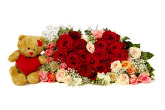 lätt redigera blommahjärta till royaltyfria bilder