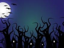 lätt redigera den halloween bildnatten till vektorn Royaltyfria Bilder